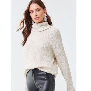 BP Plush Cozy Turtleneck Eyelash Sweater Cream